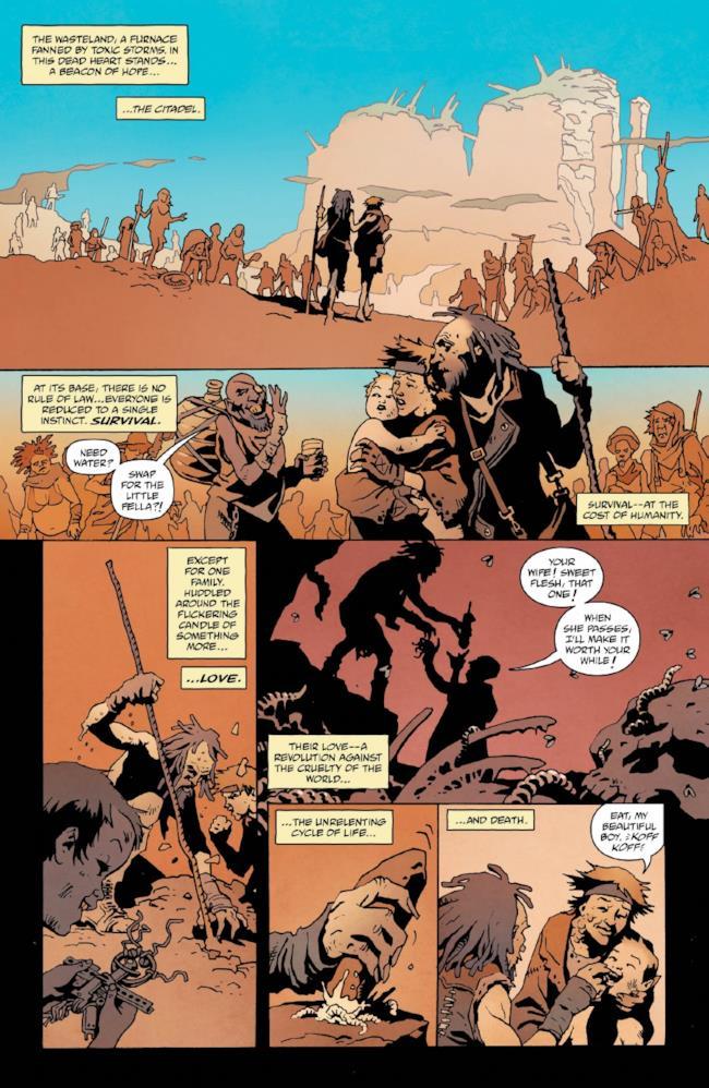 Pagina 2 del fumetto su Mad Max: Fury Road