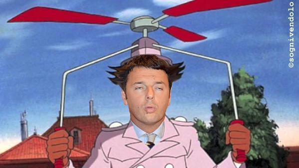 Matteo Renzi come l'ispettore Gadget
