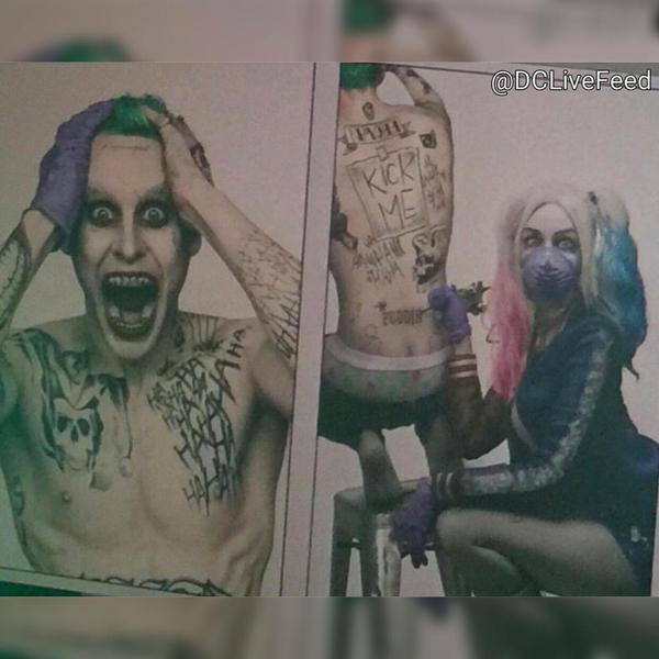 Harley Quinn tatua il suo Mister J