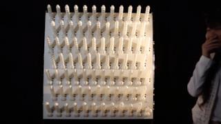Muro di peni stampati in 3D e interattivi