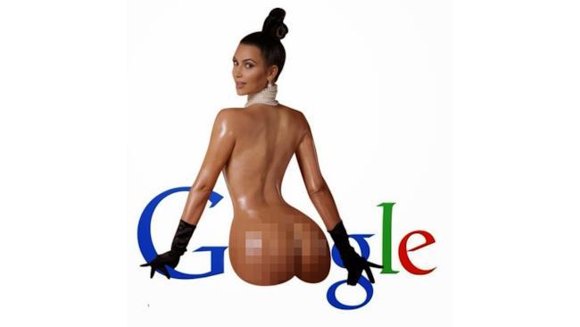 Kim Kardashian meme con Google