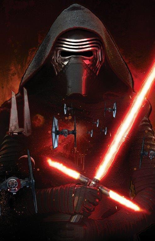 Il poster di Kylo ren in Star Wars 7