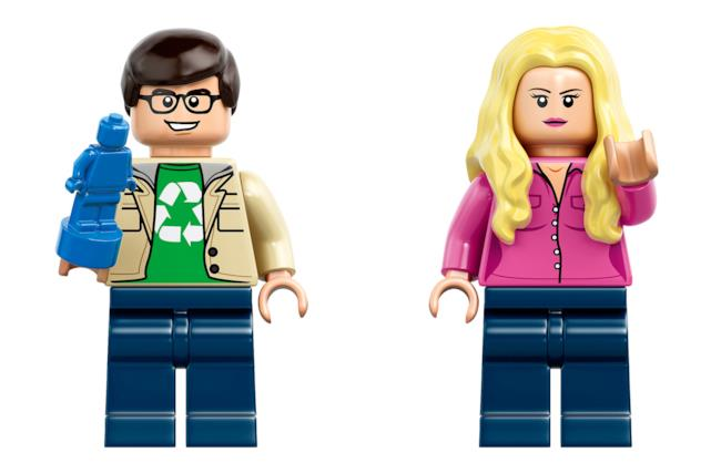 Leonard e Penny nel set LEGO di The Big Bang Theory