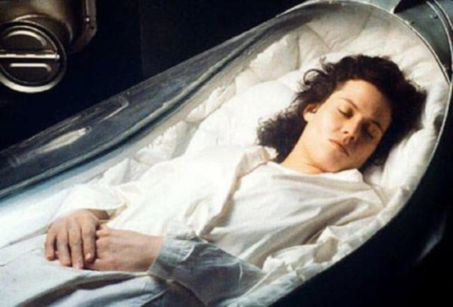 Ripley in criosonno in Alien