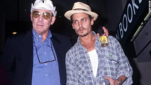 Lo scrittore Hunter Thompson e Johnny Depp