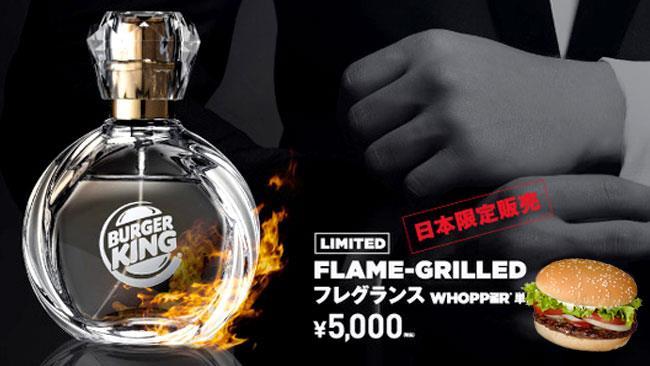 Poster promozionale con il profumo di Burger King