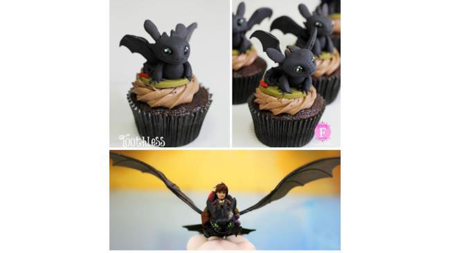 Cupcake di Sdentato e Hiccup