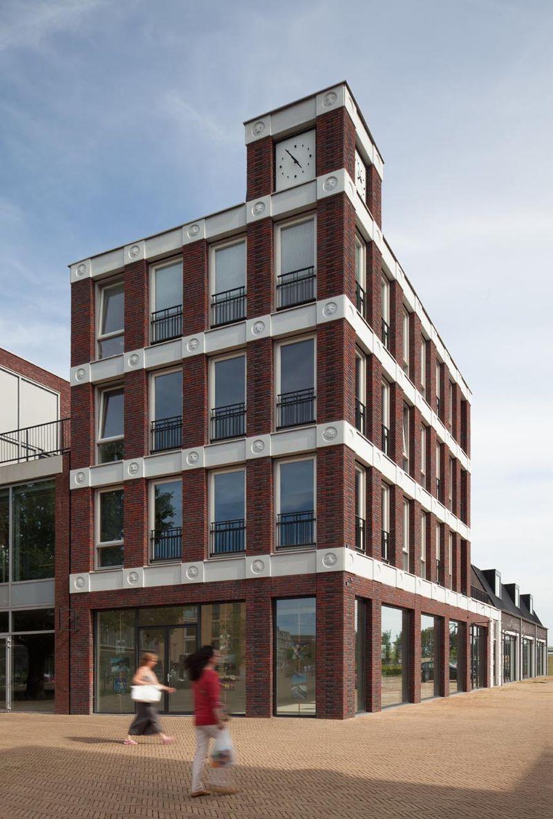Vista del palazzo delle emoji olandese