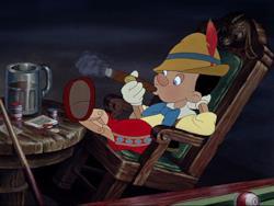 Una scena del classico Disney Pinocchio (1940)