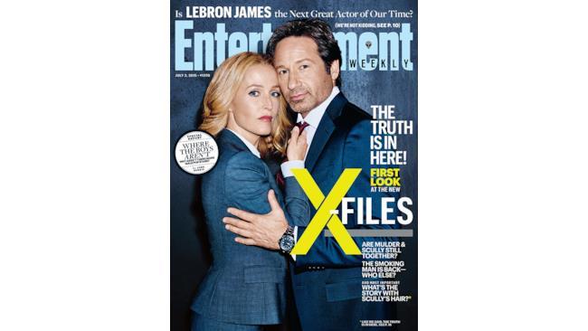 La copertina di Entertanment Weekly dedicata a X-Files
