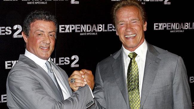 Schwarzenegger e Stallone contenti delle loro uccisioni