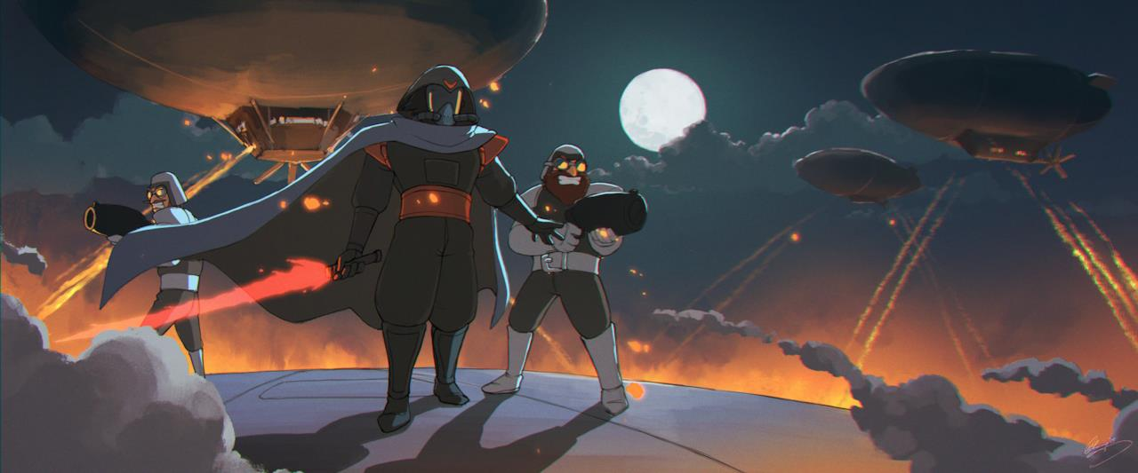 Darth Vader in in stile Studio Ghibli