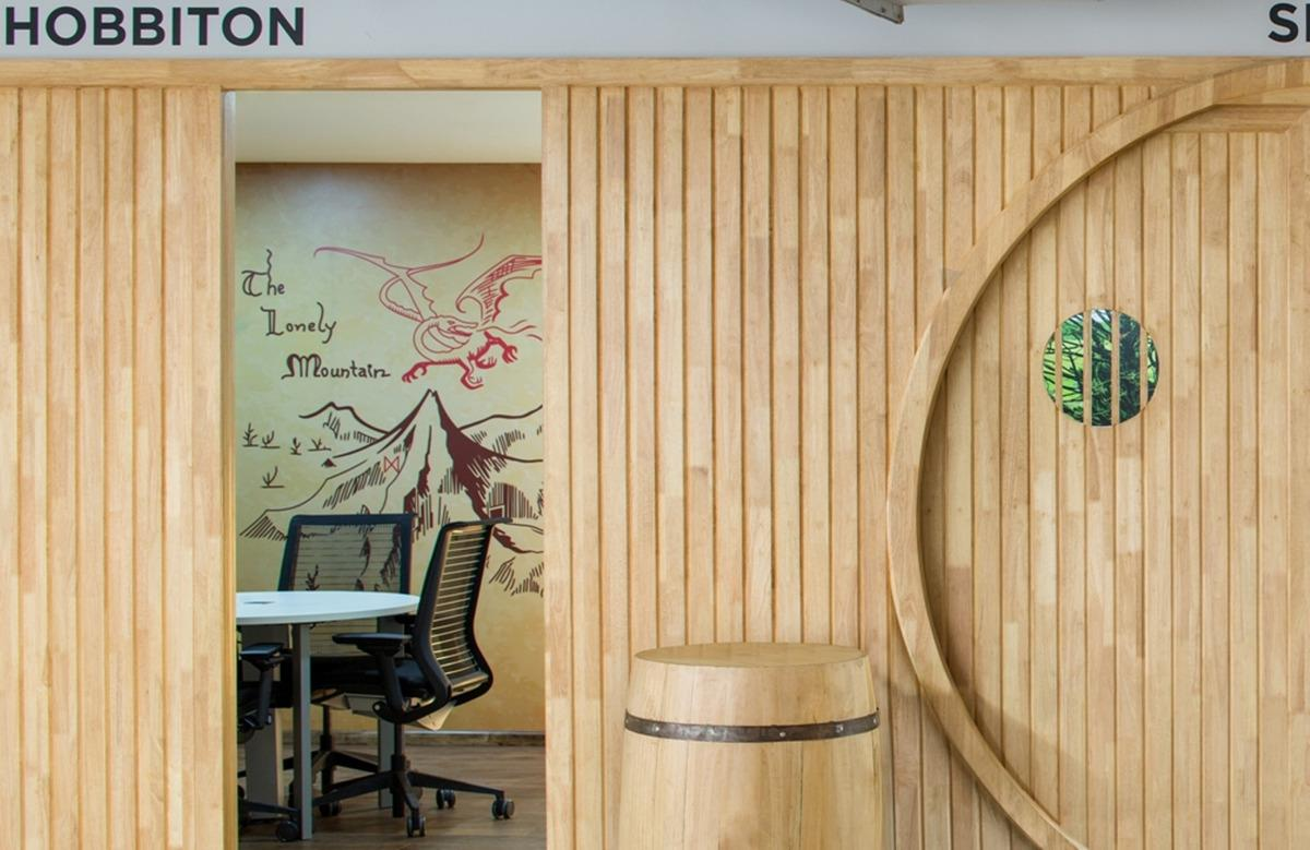 La camera dell'Ufficio a tema Signore degli Anelli chiamata Hobbiton