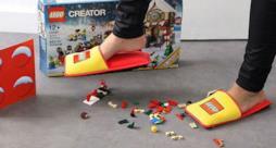 Proteggi i tuoi piedi con le pantofole LEGO anti-mattoncino