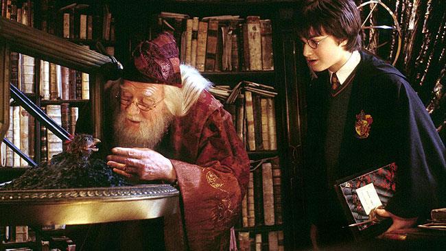 Silente e Harry nei film originali di Harry Potter
