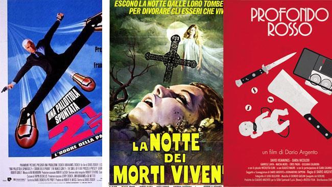 Un collage di locandine di film