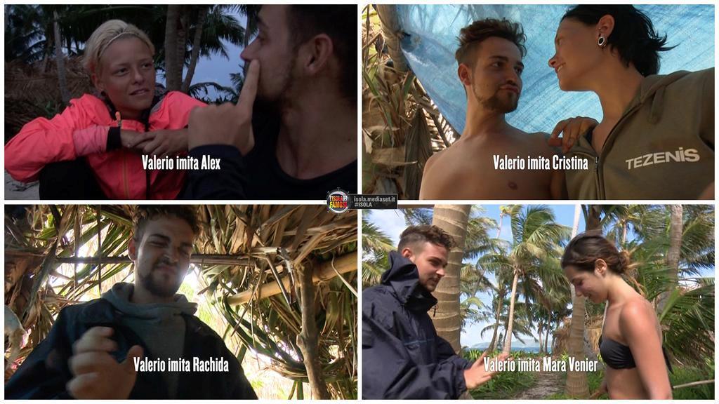 Valerio Scanu imita gente all'Isola dei Famosi