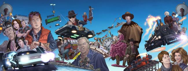 Le copertine dell'antologia a fumetti di Ritorno al Futuro