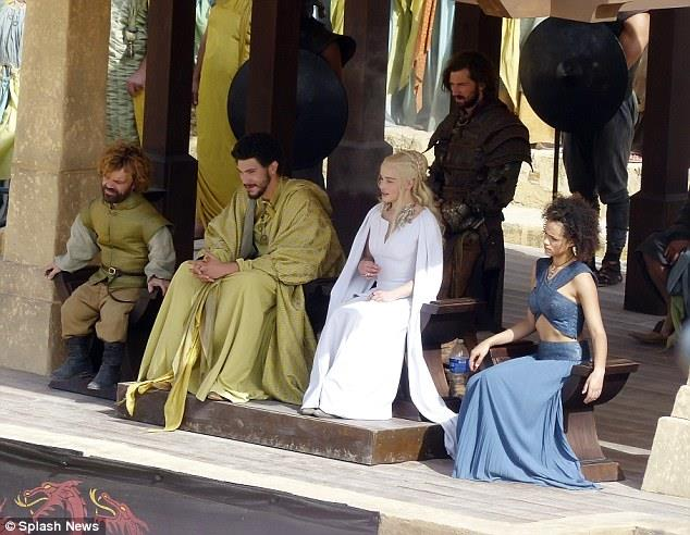 Scena dalla stagione 5 di Game of Thrones