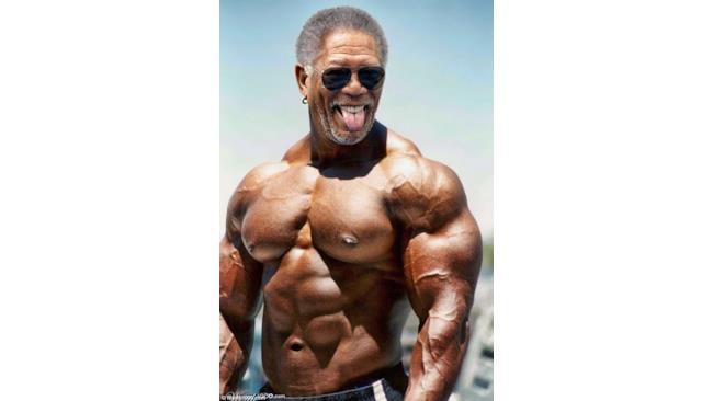 Morgan Freeman in stile palestrato