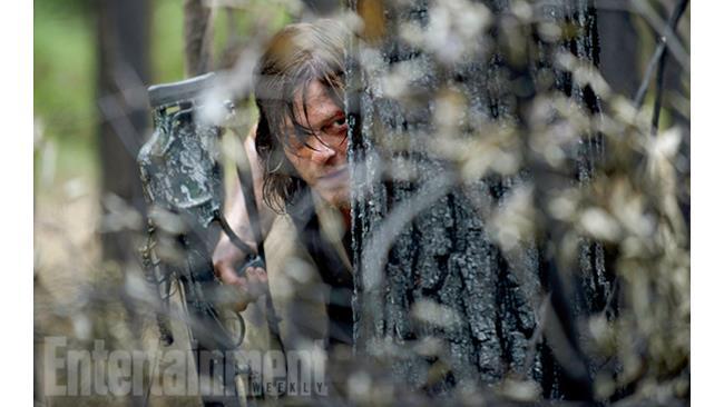 Daryl durante una fuga nella sesta stagione di The Walking Dead