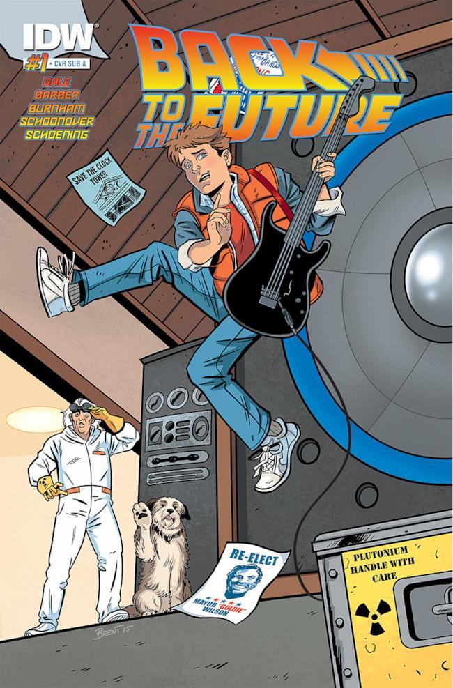 Tavola dal #1 del fumetto di Ritorno al Futuro