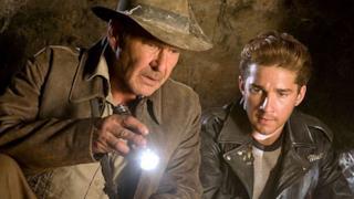 Shia LaBoeuf e Harrison Ford in Indiana Jones 4