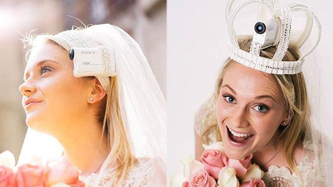 I veli da sposa con telecamera