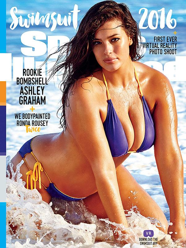 La modella oversize Ashley Graham su Sports illustrated