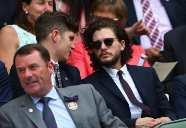 Kit Harington assiste a una partita a Wimbledon