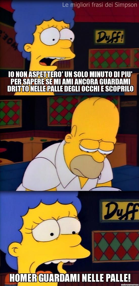 Homer e Marge si rimettono insieme guardandosi nelle palle