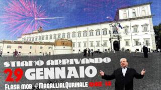 Giancarlo Magalli al Quirinale: il banner
