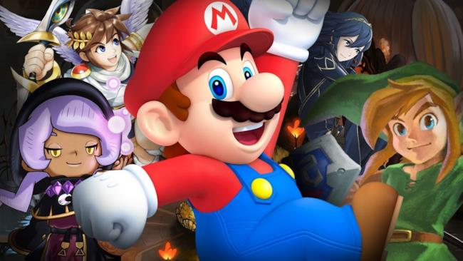 Le icone Nintendo si mostrano in un artwork di gioco