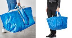 La borsa di IKEA e quella di Balenciaga a confronto