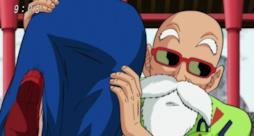 Il  Genio delle Tartarughe di mare in una scena dell'anime Dragon Ball.