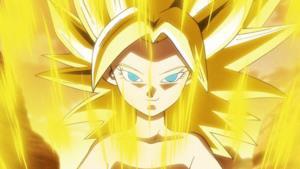 Una ragazza Super Saiyan in Dragon Ball Super