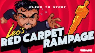 Uno screen di  Leo's Red Carpet Rampage, il videogame per far vincere l'Oscar a DiCaprio
