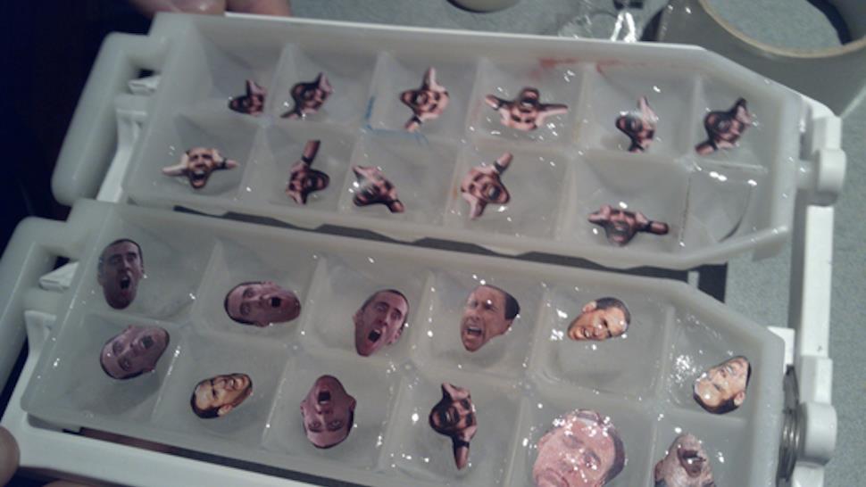 Nicolas Cage nei cubetti di ghiaccio