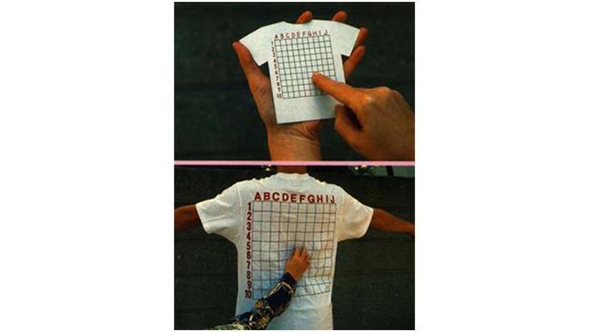T-shirt per farsi massaggiare nel punto giusto