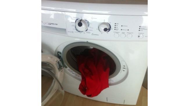 Lavatrice che sembra avere un volto