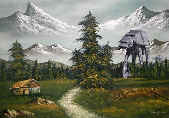 AT-AT dipinto in un quadro