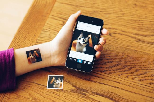 Foto di Instagram stampata sulla pelle