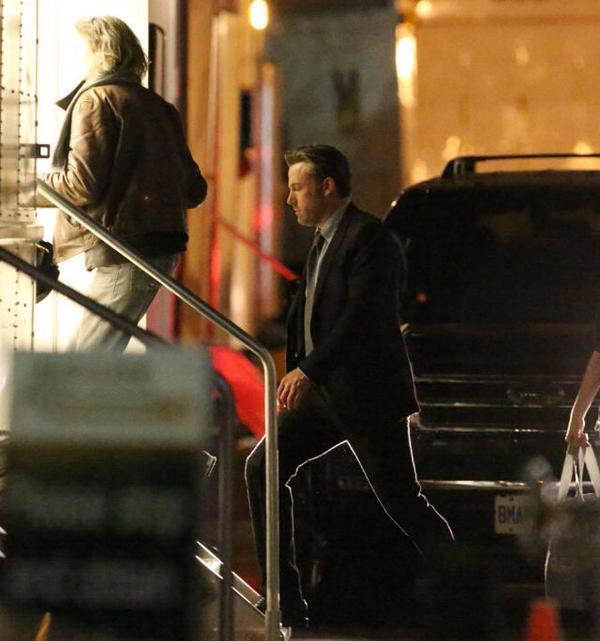 Batman visita il set di Suicide Squad