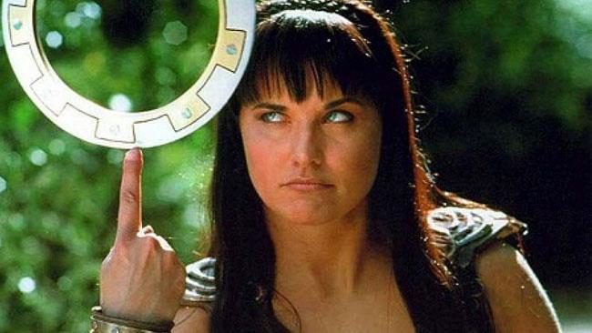 Lucy Lawless nel ruolo di Xena