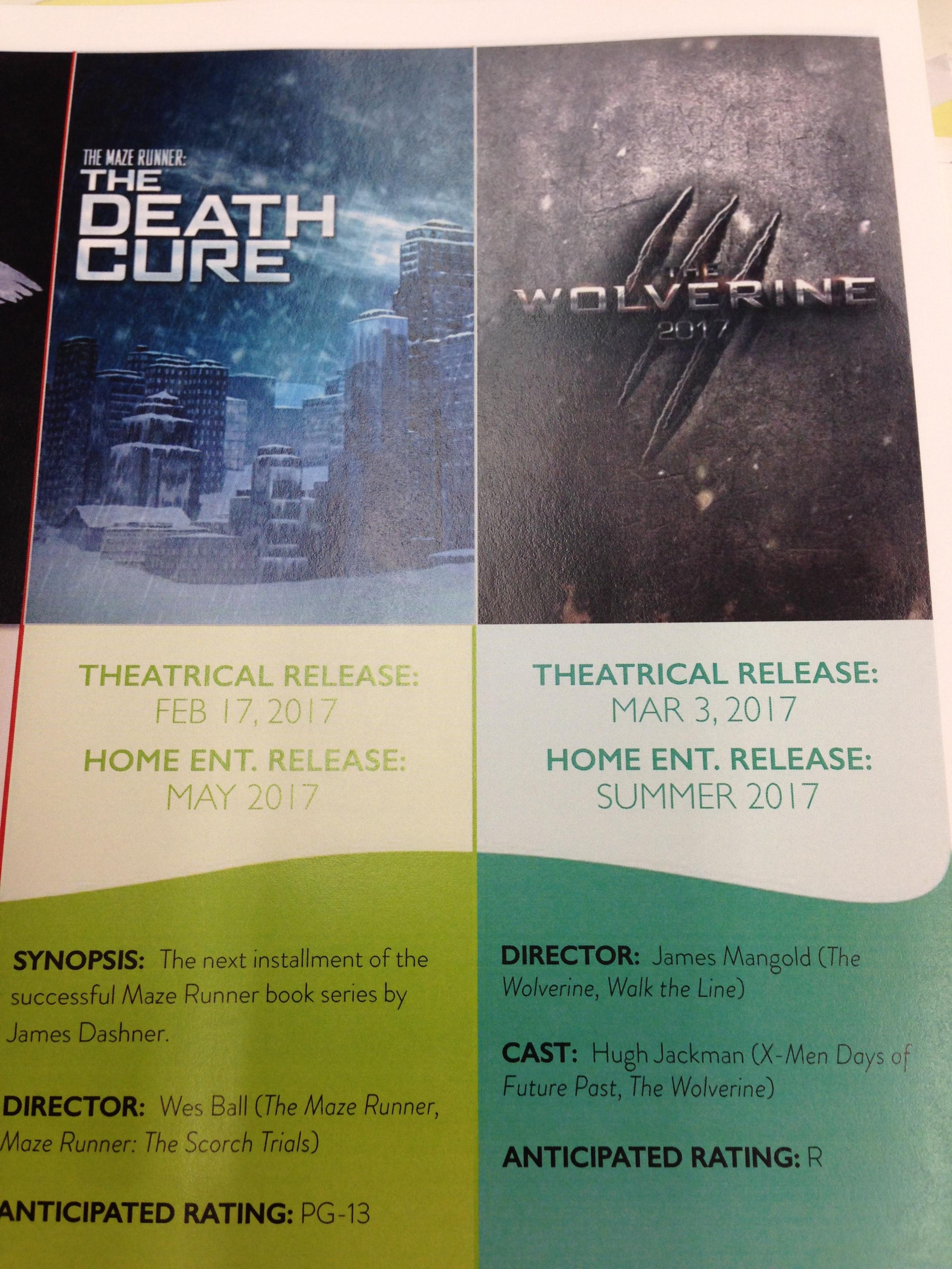 Wolverine 3 potrebbe essere distribuito con un rating R così come si evince dalla brochure di presentazione.