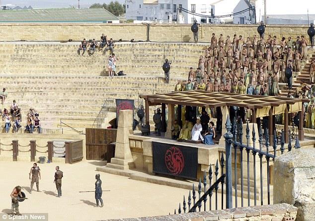 L'arena dei giochi di Meereen nella stagione 5 di Game of Thrones