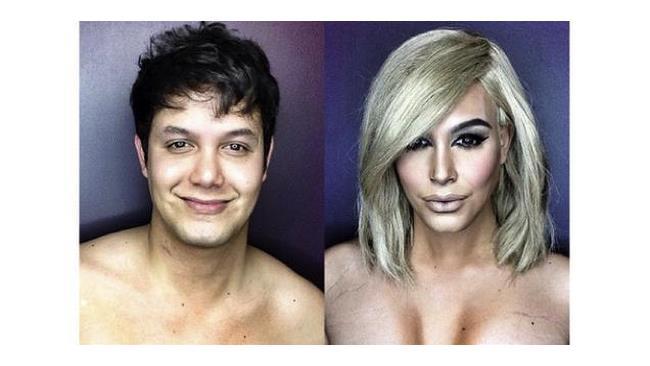 Ragazzo impersona Kim Kardashian col trucco