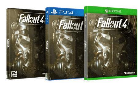 Box delle varie versioni di Fallout 4