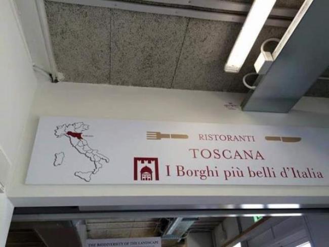 Toscana ed Emilia-Romagna sono state scambiate su un manifesto EXPO