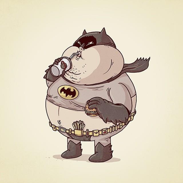 Batman in versione obesa